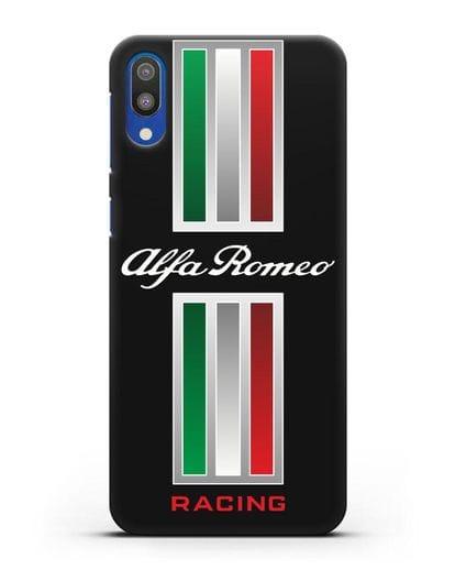 Чехол с логотипом Альфа Ромео силикон черный для Samsung Galaxy M10 [SM-M105F]
