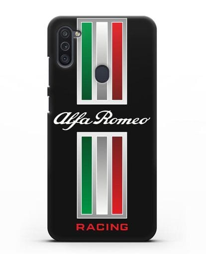 Чехол с логотипом Альфа Ромео силикон черный для Samsung Galaxy M11 [SM-M115F]