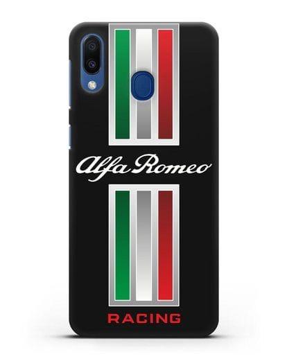 Чехол с логотипом Альфа Ромео силикон черный для Samsung Galaxy M20 [SM-M205F]