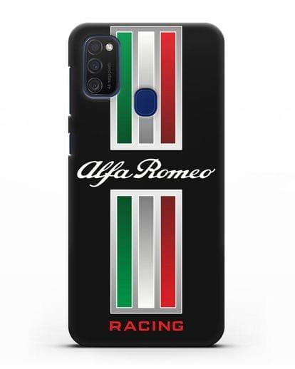Чехол с логотипом Альфа Ромео силикон черный для Samsung Galaxy M21 [SM-M215F]