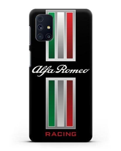 Чехол с логотипом Альфа Ромео силикон черный для Samsung Galaxy M51 [SM-M515F]