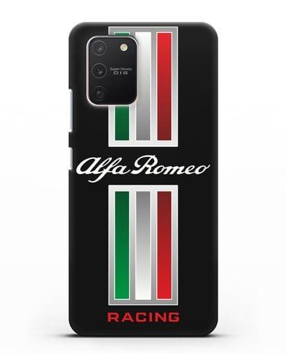 Чехол с логотипом Альфа Ромео силикон черный для Samsung Galaxy S10 lite [SM-G770F]