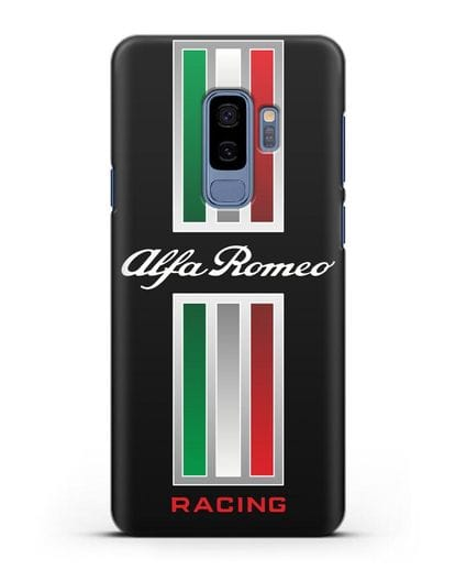 Чехол с логотипом Альфа Ромео силикон черный для Samsung Galaxy S9 Plus [SM-G965F]