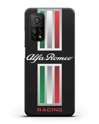 Чехол с логотипом Альфа Ромео силикон черный для Xiaomi Mi 10T