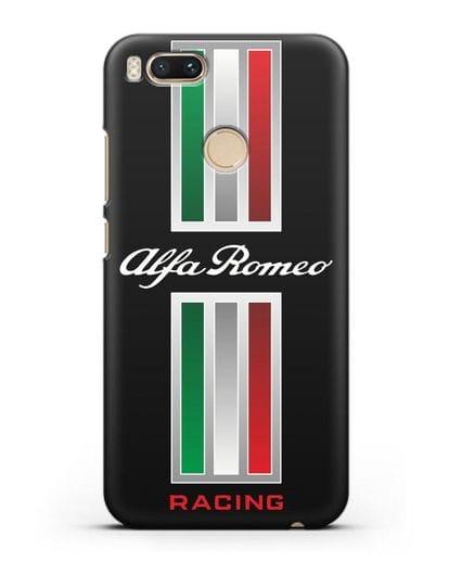 Чехол с логотипом Альфа Ромео силикон черный для Xiaomi Mi 5X
