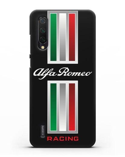 Чехол с логотипом Альфа Ромео силикон черный для Xiaomi Mi 9 Lite