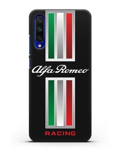 Чехол с логотипом Альфа Ромео силикон черный для Xiaomi Mi CC9 E