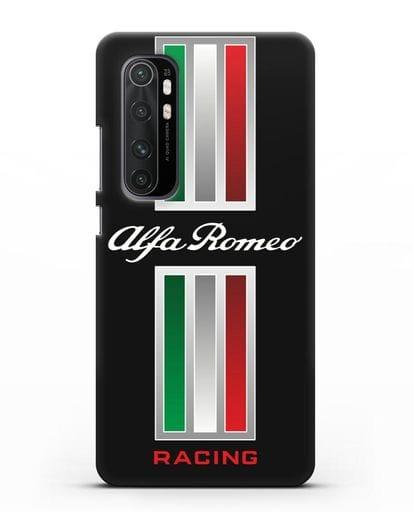 Чехол с логотипом Альфа Ромео силикон черный для Xiaomi Mi Note 10 lite