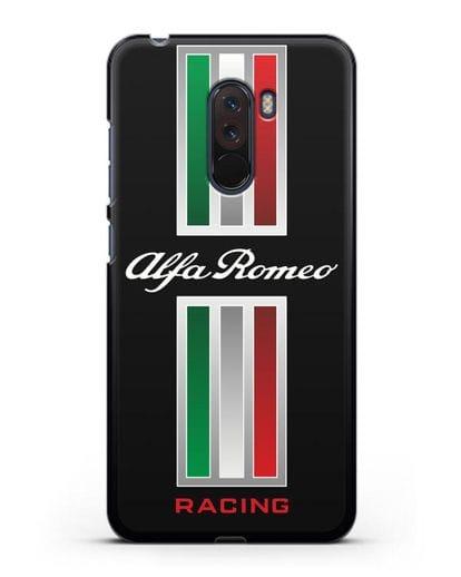 Чехол с логотипом Альфа Ромео силикон черный для Xiaomi Pocophone F1