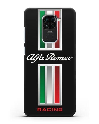 Чехол с логотипом Альфа Ромео силикон черный для Xiaomi Redmi 10X