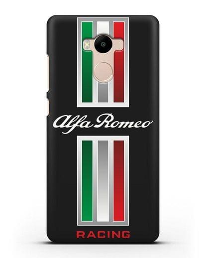 Чехол с логотипом Альфа Ромео силикон черный для Xiaomi Redmi 4 Pro