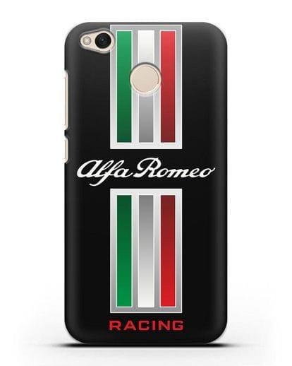 Чехол с логотипом Альфа Ромео силикон черный для Xiaomi Redmi 4X