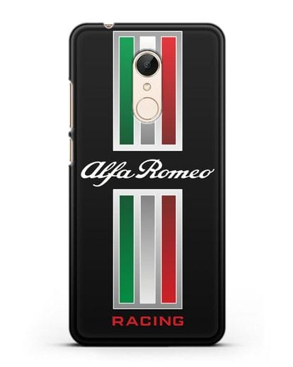 Чехол с логотипом Альфа Ромео силикон черный для Xiaomi Redmi 5 Plus