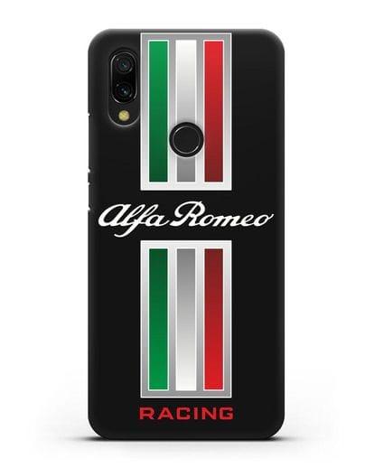 Чехол с логотипом Альфа Ромео силикон черный для Xiaomi Redmi 7