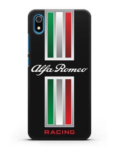 Чехол с логотипом Альфа Ромео силикон черный для Xiaomi Redmi 7A