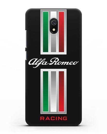 Чехол с логотипом Альфа Ромео силикон черный для Xiaomi Redmi 8A