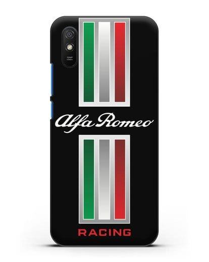 Чехол с логотипом Альфа Ромео силикон черный для Xiaomi Redmi 9A