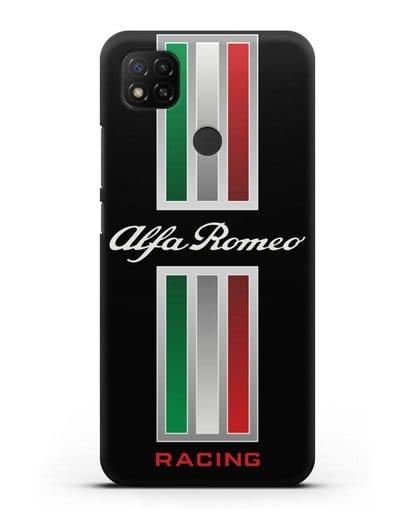 Чехол с логотипом Альфа Ромео силикон черный для Xiaomi Redmi 9С