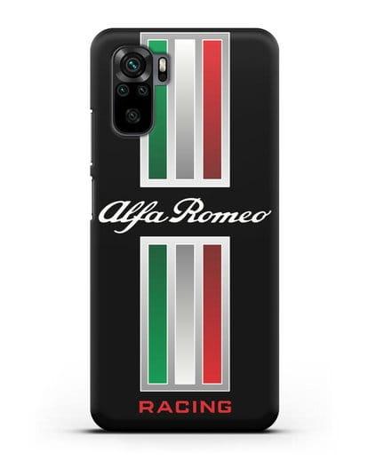 Чехол с логотипом Альфа Ромео силикон черный для Xiaomi Redmi Note 10