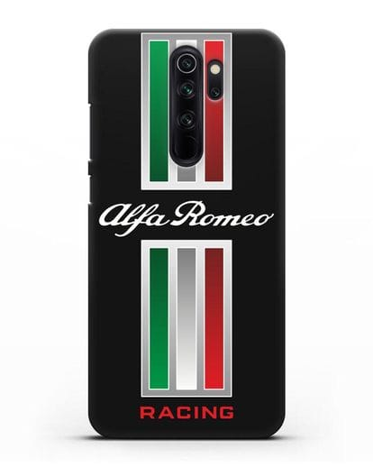 Чехол с логотипом Альфа Ромео силикон черный для Xiaomi Redmi Note 8 Pro