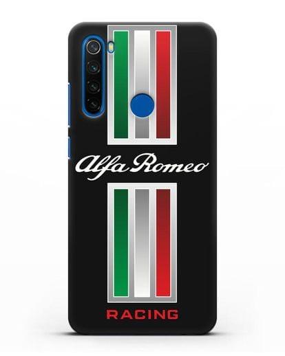 Чехол с логотипом Альфа Ромео силикон черный для Xiaomi Redmi Note 8T