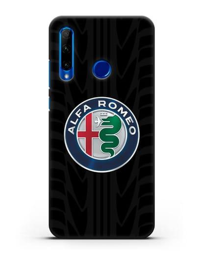 Чехол с эмблемой Alfa Romeo с протектором шин силикон черный для Honor 10i