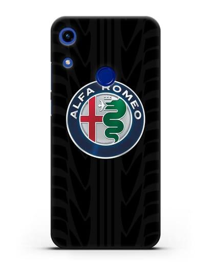 Чехол с эмблемой Alfa Romeo с протектором шин силикон черный для Honor 8A