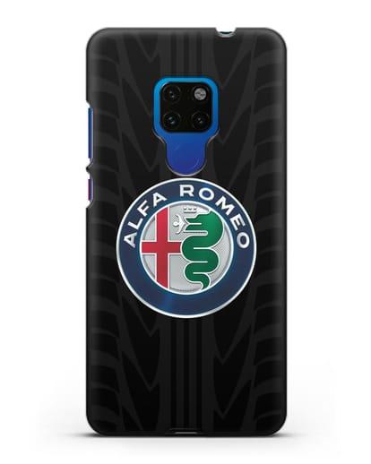 Чехол с эмблемой Alfa Romeo с протектором шин силикон черный для Huawei Mate 20