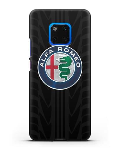 Чехол с эмблемой Alfa Romeo с протектором шин силикон черный для Huawei Mate 20 Pro