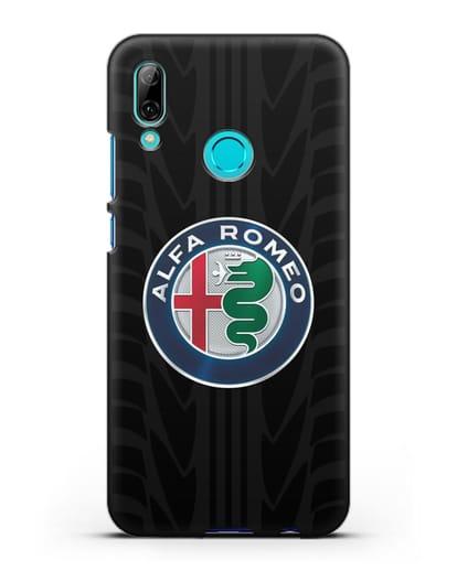 Чехол с эмблемой Alfa Romeo с протектором шин силикон черный для Huawei P Smart 2019