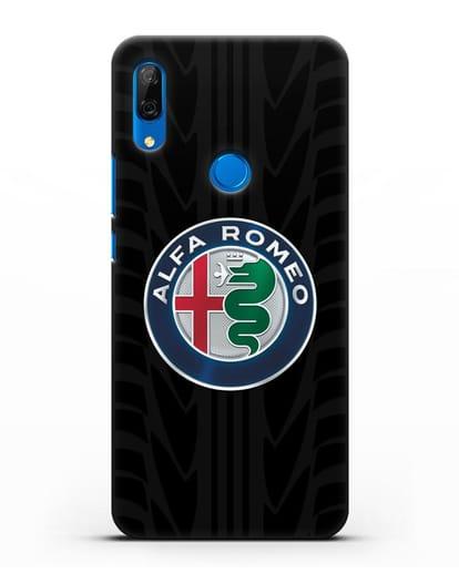 Чехол с эмблемой Alfa Romeo с протектором шин силикон черный для Huawei P Smart Z