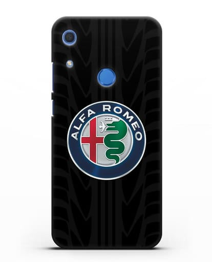 Чехол с эмблемой Alfa Romeo с протектором шин силикон черный для Huawei Y6s