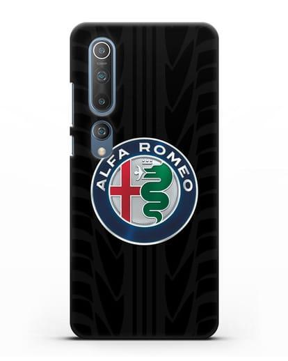 Чехол с эмблемой Alfa Romeo с протектором шин силикон черный для Xiaomi Mi 10 Pro
