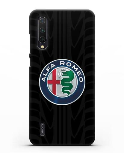 Чехол с эмблемой Alfa Romeo с протектором шин силикон черный для Xiaomi Mi 9 Lite