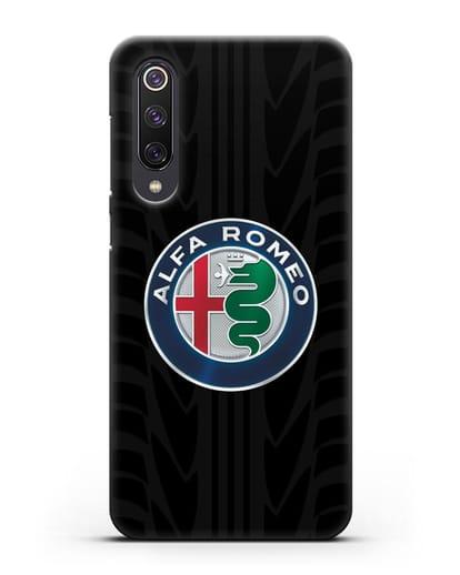Чехол с эмблемой Alfa Romeo с протектором шин силикон черный для Xiaomi Mi 9 SE