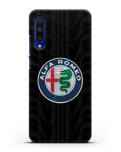 Чехол с эмблемой Alfa Romeo с протектором шин силикон черный для Xiaomi Mi A3