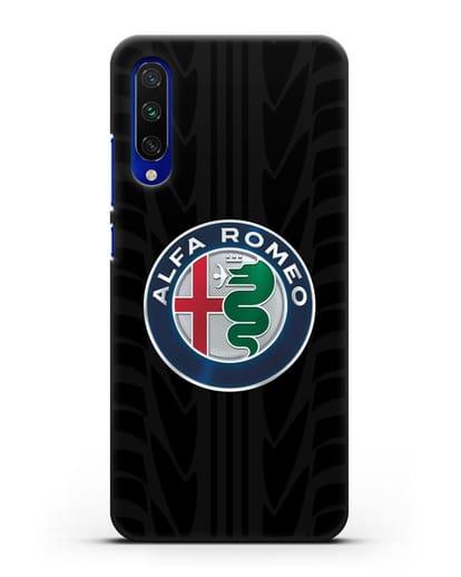 Чехол с эмблемой Alfa Romeo с протектором шин силикон черный для Xiaomi Mi CC9 E