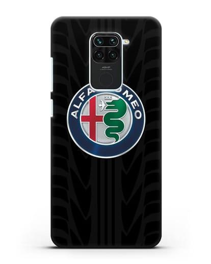 Чехол с эмблемой Alfa Romeo с протектором шин силикон черный для Xiaomi Redmi 10X