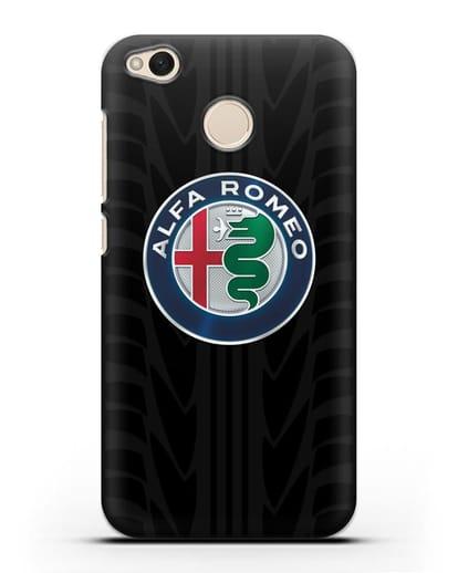 Чехол с эмблемой Alfa Romeo с протектором шин силикон черный для Xiaomi Redmi 4X