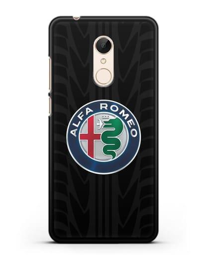 Чехол с эмблемой Alfa Romeo с протектором шин силикон черный для Xiaomi Redmi 5 Plus