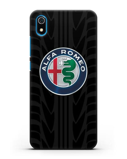 Чехол с эмблемой Alfa Romeo с протектором шин силикон черный для Xiaomi Redmi 7A