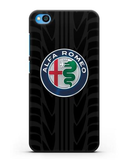 Чехол с эмблемой Alfa Romeo с протектором шин силикон черный для Xiaomi Redmi Go