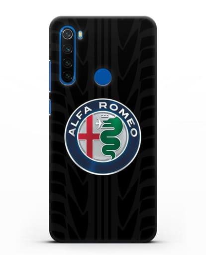 Чехол с эмблемой Alfa Romeo с протектором шин силикон черный для Xiaomi Redmi Note 8T