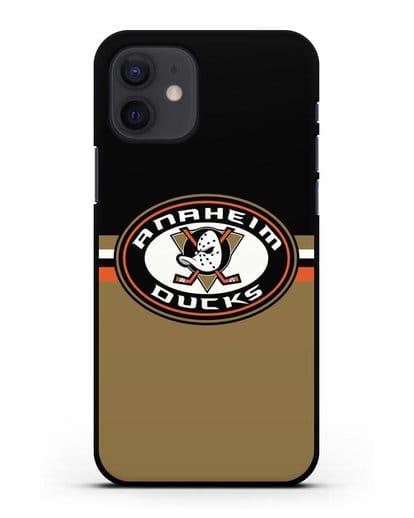 Чехол с символикой Anaheim Ducks силикон черный для iPhone 12
