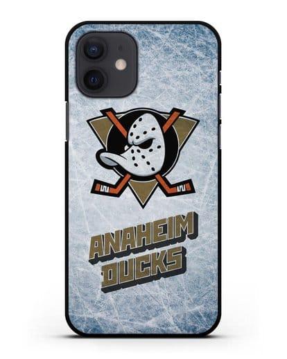 Чехол с рисунком Anaheim Ducks силикон черный для iPhone 12