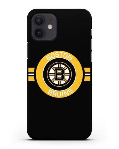 Чехол с символикой Boston Bruins силикон черный для iPhone 12