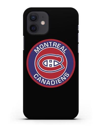 Чеxол с логотипом Montreal Canadiens силикон черный для iPhone 12