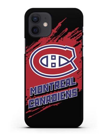 Чехол с надписью ХК Монреаль Канадиенс силикон черный для iPhone 12