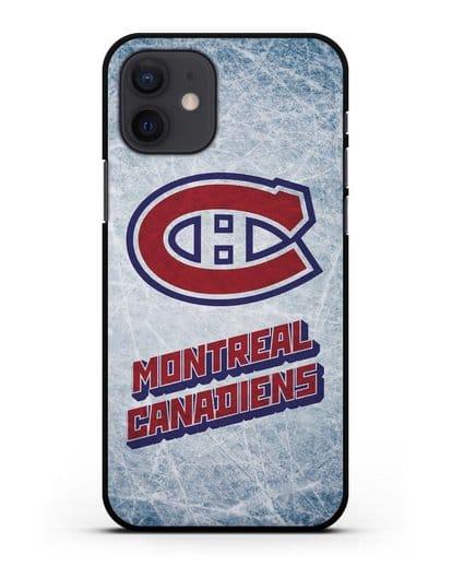 Чехол с рисунком Montreal Canadiens силикон черный для iPhone 12