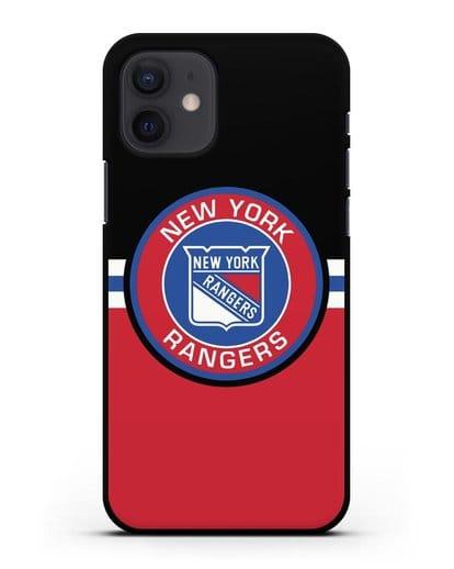 Чехол с символикой New York Rangers силикон черный для iPhone 12